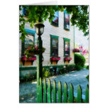 Lamp and Window Boxes Greeting Cards