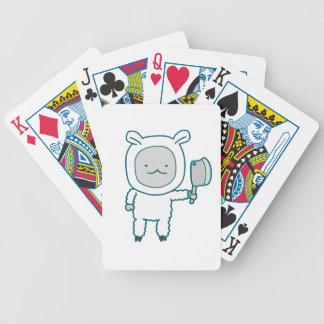 Lamp Chop Bicycle Playing Cards
