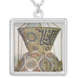 Lamp, from the Mosque of Sultan Hasan, Cairo Silver Plated Necklace