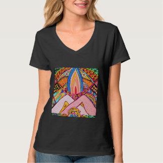 Lamp Hands Joined Together : Nameste VNECK T-Shirt