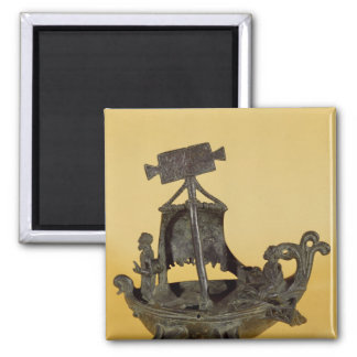 Lamp in the form of a boat square magnet
