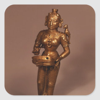 Lamp in the form of Goddess of Fortune Square Sticker