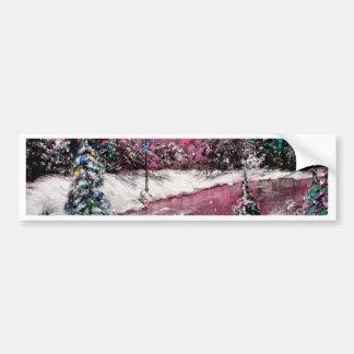 Lamp Light Pink Holiday Winter Design Bumper Sticker