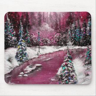 Lamp Light Pink Holiday Winter Design Mousepads