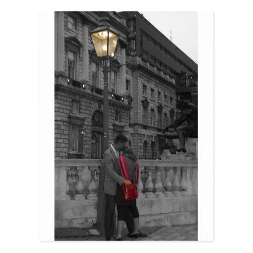 Lamp light Romance Postcard