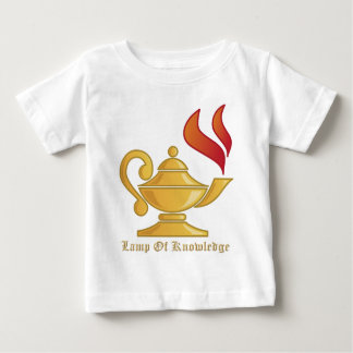 Lamp-of-Knowledge With Text Baby T-Shirt