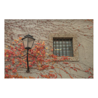 Lamp On A Grey Wall Wood Wall Decor