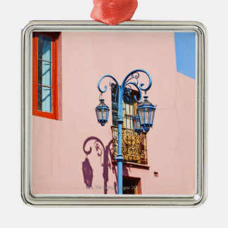 Lamp post and painted buildings, Caminito, La Christmas Ornament