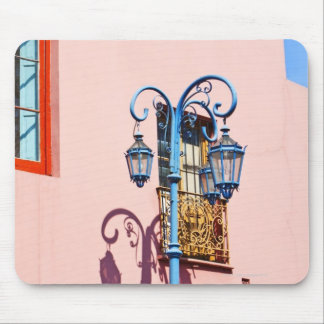 Lamp post and painted buildings, Caminito, La Mouse Mat