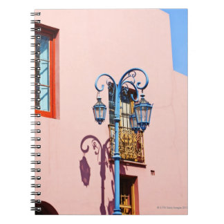 Lamp post and painted buildings, Caminito, La Spiral Notebook