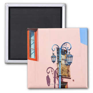 Lamp post and painted buildings, Caminito, La Square Magnet