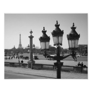 Lamp Post & Eiffel Poster