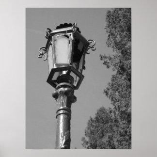 Lamp Post in Romania B&W Poster