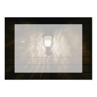 """lamp with angel wings reflection on wall 5"""" x 7"""" invitation card"""