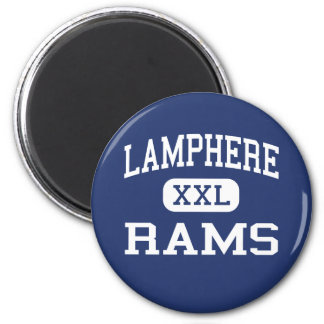 Lamphere - Rams - High - Madison Heights Michigan 6 Cm Round Magnet