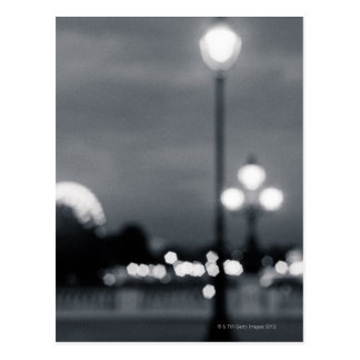 lampost on Pont Alexander in Paris Postcard