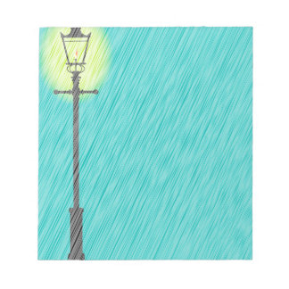 Lamppost In the Rain Notepad