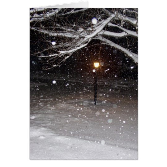 Lamppost in the Snow Notecard