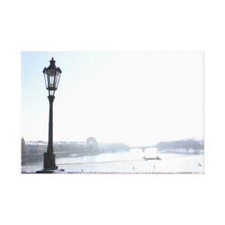 Lamppost on Charles Bridge (Prague) Canvas Print