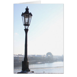 Lamppost on Charles Bridge (Prague) Card