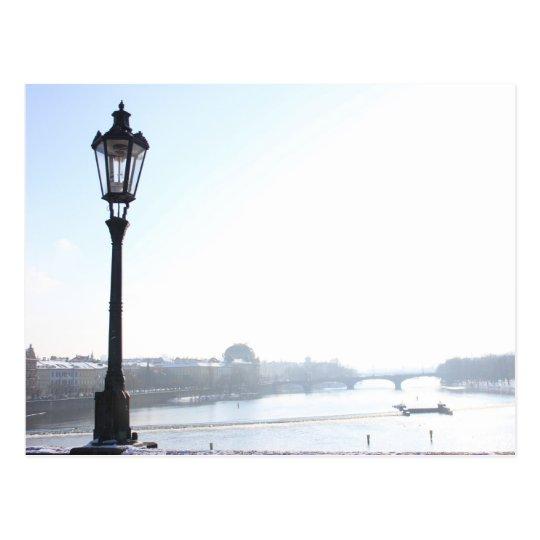 Lamppost on Charles Bridge (Prague) Postcard