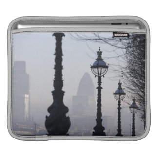 Lampposts by River Thames iPad Sleeve