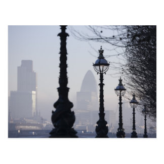 Lampposts by River Thames Postcard
