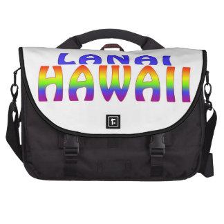 Lanai Hawaii rainbow words Laptop Commuter Bag