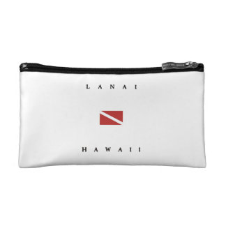 Lanai Hawaii Scuba Dive Flag Makeup Bags