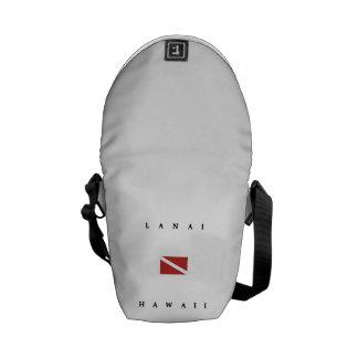 Lanai Hawaii Scuba Dive Flag Messenger Bag