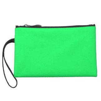 Lanai Lime-Green-Acid Green-Tropical Romance Wristlet Purse
