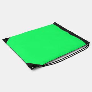 Lanai Lime-Green-Acid Green-Tropical Romance Drawstring Bag