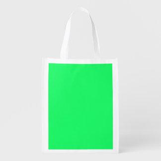 Lanai Lime-Green-Acid Green-Tropical Romance Grocery Bags