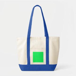 Lanai Lime-Green-Acid Green-Tropical Romance Impulse Tote Bag