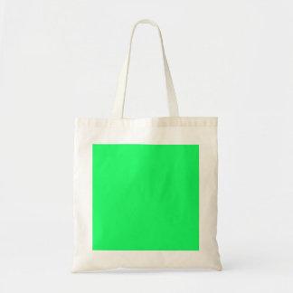 Lanai Lime-Green-Acid Green-Tropical Romance Budget Tote Bag