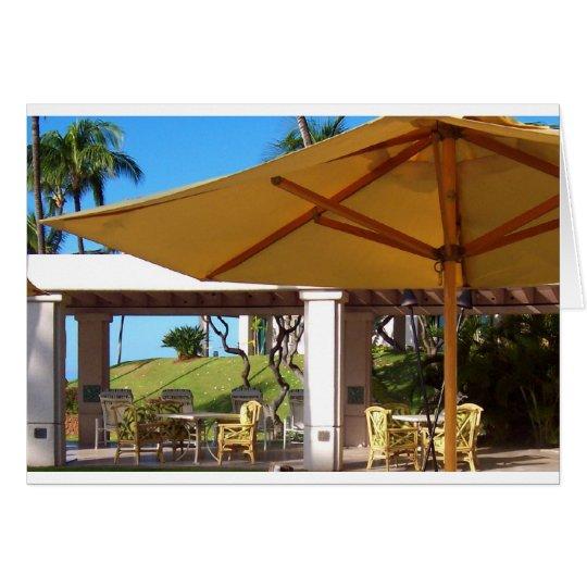 Lanai Sunny Umbrella, Manele Bay, Hawaii Card