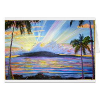 Lanai Sunset Greeting Card