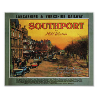 Lancashire and Yorkshire railway Southport Poster