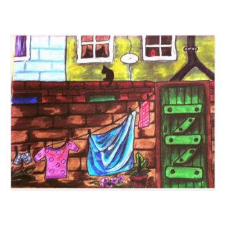 Lancashire Backyard Postcard