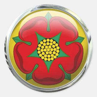 Lancashire County Flag Glass Ball Round Sticker
