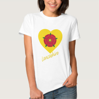 Lancashire Flag Heart with Name Shirts