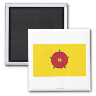 Lancashire Flag Square Magnet