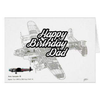 Lancaster Aircraft Birthday Card