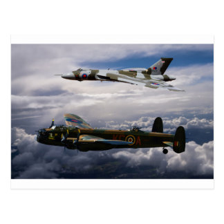 Lancaster and Vulcan XH558 Postcard