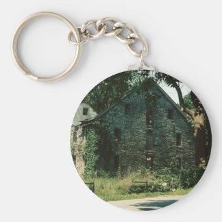 Lancaster Barn Ruin Basic Round Button Key Ring