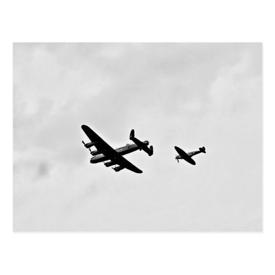 Lancaster Bomber And Spitfire Postcards