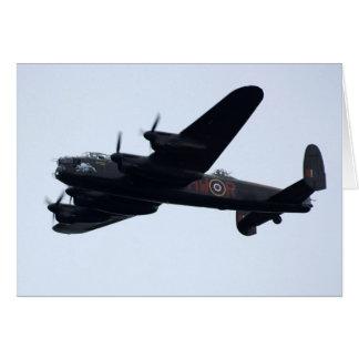 Lancaster Bomber In Flight. Greeting Card