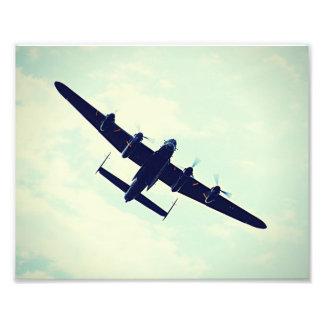 Lancaster Bomber In Flight. Photo Print