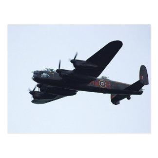 Lancaster Bomber In Flight. Postcard