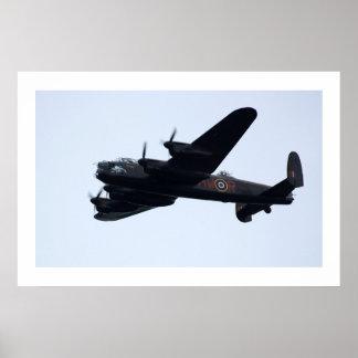 Lancaster Bomber In Flight . Poster